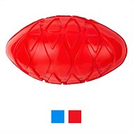 All Kind Squeaking Football Dog Toy, Red