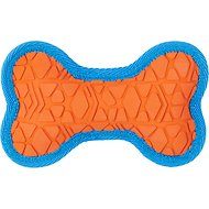 All Kind Tug & Fetch No Squeak Bone Dog Toy, Small, Orange/Blue