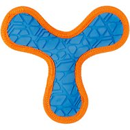 All Kind Tug & Fetch No Squeak Tri-Flyer Dog Toy, Large, Blue/Orange