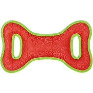 All Kind Toss & Play No Squeak Bow Dog Toy, Small, Red Body/Green Trim