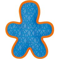 All Kind Tug & Fetch No Squeak Gingerbread Man Dog Toy, Blue/Orange