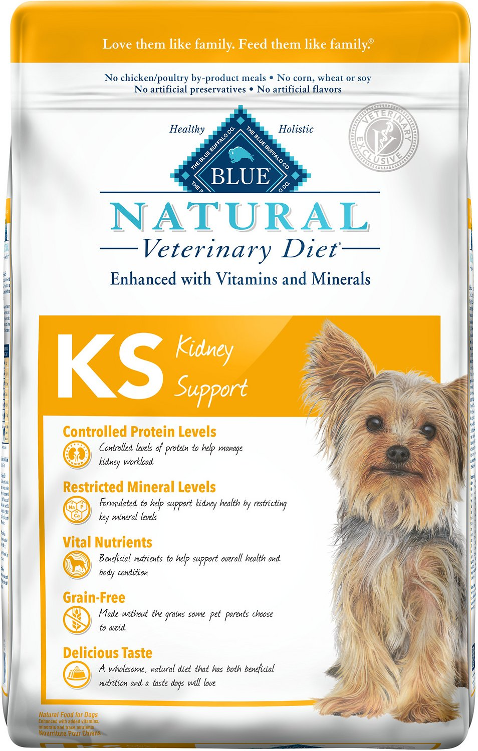 Blue Buffalo Natural Diet Kidney Support for Dogs - Best Dry Food Diet for Dogs with Kidney Disease