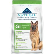 Blue Buffalo Natural Veterinary Diet GI Gastrointestinal Support Dry Dog Food, 6-lb bag
