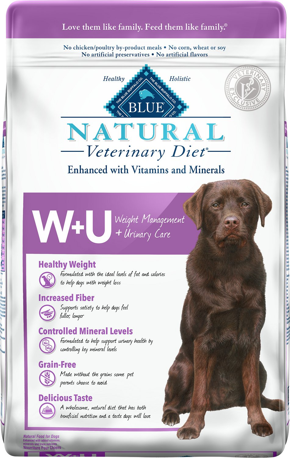 Blue Buffalo Natural Veterinary Diet Wu Weight Management Urinary