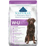 Blue Buffalo Natural Veterinary Diet WU Weight Management + Urinary Care Grain-Free Dry Dog Food, 22-lb bag