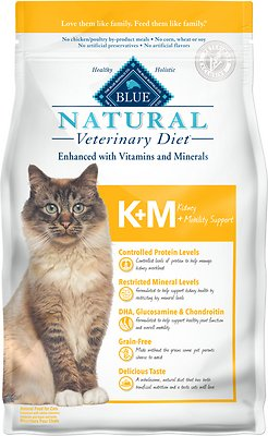 2. Blue Buffalo Natural Veterinary Diet K+M Kidney + Mobility Support
