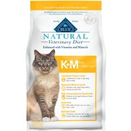 Blue Buffalo Natural Veterinary Diet K+M Kidney + Mobility Support Grain-Free Dry Cat Food, 7-lb bag