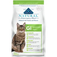 Blue Buffalo Natural Veterinary Diet GI Gastrointestinal Support Grain-Free Dry Cat Food, 7-lb bag