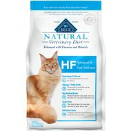 Blue Buffalo Natural Veterinary Diet HF Hydrolyzed for Food Intolerance Grain-Free Dry Cat Food, 7-lb bag