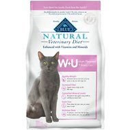 Blue Buffalo Natural Veterinary Diet W+U Weight Management + Urinary Care Grain-Free Dry Cat Food, 6.5-lb bag
