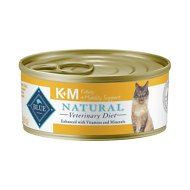 Blue Buffalo Natural Veterinary Diet K+M Kidney + Mobility Support Grain-Free Canned Cat Food, 5.5-oz, case of 24