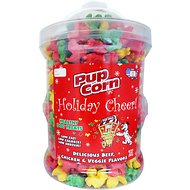 Pupcorn Holiday Cheer Multi-Flavored  Fire Hydrant Dog Treats, 26-oz