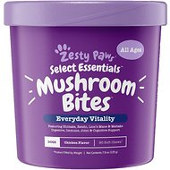 Zesty Paws Mushroom with Organic Shiitake & Reishi for Immune Support Dog Supplement, 90 count