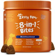 Zesty Paws 5-in-1 Multivitamin with MSM & CoQ10 Peanut Butter Flavor Dog Supplement, 90 count