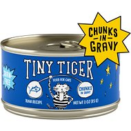 Tiny Tiger Chunks in Gravy Tuna Recipe Grain-Free Canned Cat Food, 3-oz, case of 24