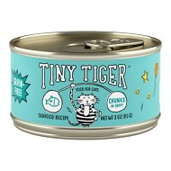 Tiny Tiger Chunks in Gravy Seafood Recipe Grain-Free Canned Cat Food, 3-oz, case of 24
