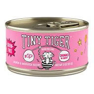 Tiny Tiger Chunks in Gravy Salmon & Whitefish Recipe Grain-Free Canned Cat Food, 3-oz, case of 24