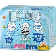 Tiny Tiger Chunks in Gravy Seafood Recipes Variety Pack Grain-Free Canned Cat Food, 3-oz, case of 24