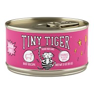 Tiny Tiger Chunks in EXTRA Gravy Beef Recipe Grain-Free Canned Cat Food, 3-oz, case of 24