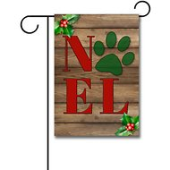 Gateway Lane Holiday Noel Paw Print Garden Flag
