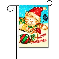 "Gateway Lane ""Meowy Christmas"" Garden Flag"
