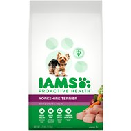 Iams ProActive Health Yorkshire Terrier Chicken Flavor Adult Dry Dog Food, 3.3-lb bag