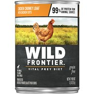 Wild Frontier by Nutro Chicken Chunky Loaf with Chicken Cuts Grain-Free Adult Canned Dog Food, 12.5-oz, case of 12