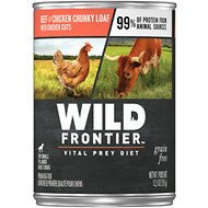 Wild Frontier by Nutro Beef & Chicken Chunky Loaf with Chicken Cuts Grain-Free Adult Canned Dog Food, 12.5-oz, case of 12