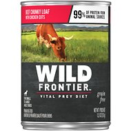Wild Frontier by Nutro Beef Chunky Loaf with Chicken Cuts Grain-Free Adult Canned Dog Food, 12.5-oz, case of 12