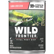 Wild Frontier by Nutro Salmon & Liver Stew Grain-Free Adult Canned Dog Food, 12.5-oz, case of 12