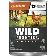 Wild Frontier by Nutro Chicken & Turkey Stew Grain-Free Adult Canned Dog Food, 12.5-oz, case of 12