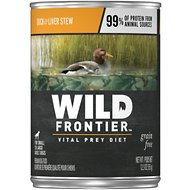 Wild Frontier by Nutro Duck & Liver Stew Grain-Free Adult Canned Dog Food, 12.5-oz, case of 12