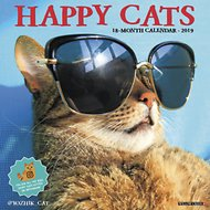 Happy Cats 2019 Wall Calendar