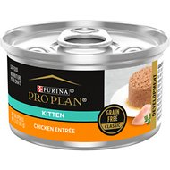 Purina Pro Plan Savor Classic Chicken Grain-Free Kitten Entree Canned Cat Food, 3-oz, case of 24