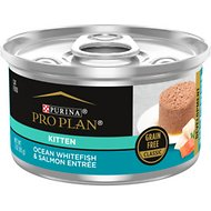 Purina Pro Plan True Nature Natural Ocean Whitefish & Salmon Grain-Free Kitten Formula Canned Cat Food, 3-oz, case of 24