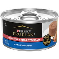Purina Pro Plan Focus Sensitive Skin & Stomach Classic Artic Char Grain-Free Entree Canned Cat Food, 3-oz, case of 24