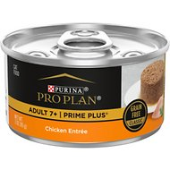 Purina Pro Plan Prime Plus 7+ Classic Chicken Grain-Free Entree Canned Cat Food, 3-oz, case of 24