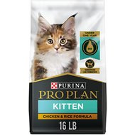 Purina Pro Plan Kitten Chicken & Rice Formula Dry Cat Food, 16-lb bag