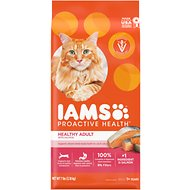 Iams ProActive Health Healthy Adult with Salmon & Tuna Dry Cat Food, 7-lb bag
