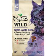 Purina Beyond Wild Turkey & Lentil Recipe + Freeze-Dried Bites with Chicken Dry Cat Food, 3-lb bag