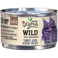 Purina Beyond Wild Prey-Inspired Turkey, Liver & Quail Recipe Canned Cat Food, 3-oz, case of 12