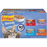 Friskies Shreds in Gravy Variety Pack Canned Cat Food, 5.5-oz, case of 40