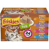 Friskies Extra Gravy Pate Variety Pack Canned Cat Food, 5.5-oz, case of 24