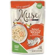 Purina Muse Natural Chicken Recipe with Shrimp in Broth Wet Cat Food, 1.76-oz pouch, case of 16