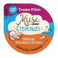 Purina Muse Creatables Tender Filets Natural Shredded Chicken Wet Cat Treats, 1-oz tub, case of 8