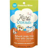 Purina Muse Creatables Crunchy Bites with Natural Chicken Grain-Free Dry Cat Food, 2.46-oz pouch, case of 10