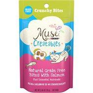 Purina Muse Creatables Crunchy Bites with Natural Salmon Grain-Free Dry Cat Food, 2.46-oz pouch, case of 10