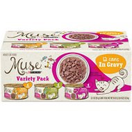 Purina Muse Natural Recipes in Gravy Variety Pack Canned Cat Food, 3-oz, case of 12