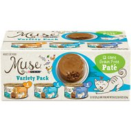 Purina Muse Pate Recipes Variety Pack Grain-Free Canned Cat Food, 3-oz, case of 12