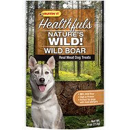 Ruffin' It Healthfuls Nature's Wild! Wild Boar Dog Treats, 4-oz bag
